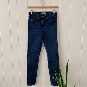 Topshop Dark Wash Jamie Jeans
